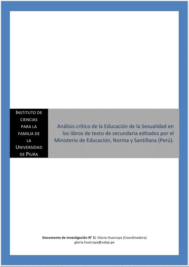 DocumentodeInvestigaciónN°2     InstitutodeCienciasparalaFamilia     UniversidaddePiura                     ...