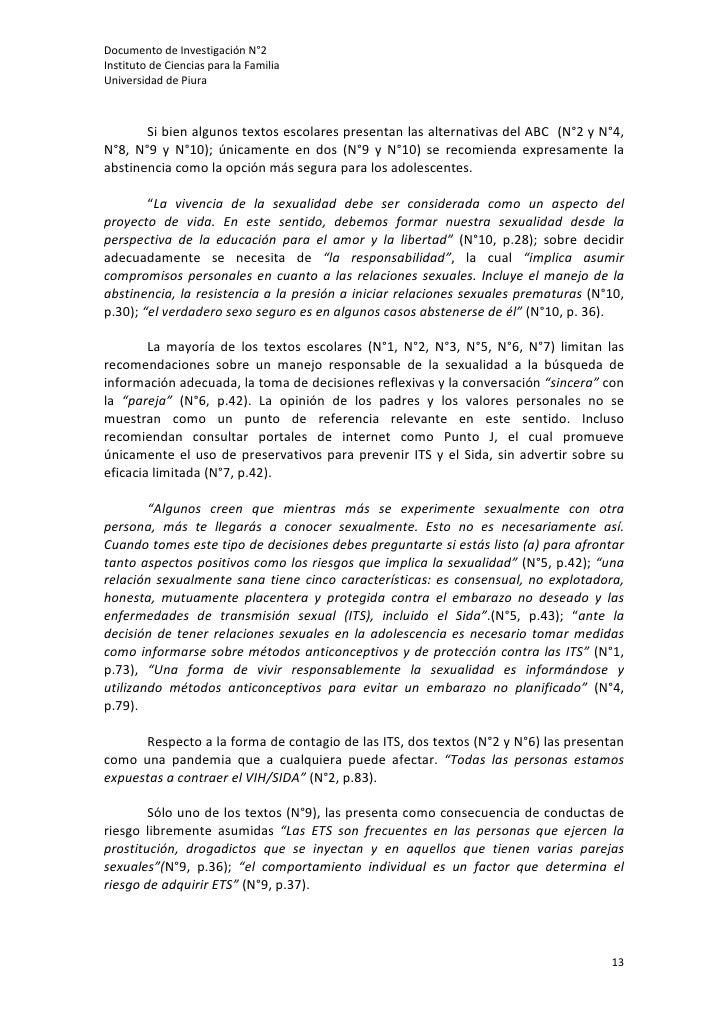 DocumentodeInvestigaciónN°2InstitutodeCienciasparalaFamiliaUniversidaddePiura                Sibienalgunos...
