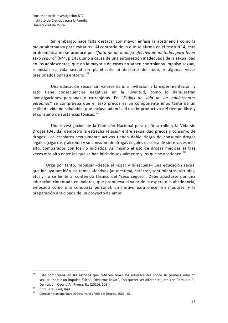 DocumentodeInvestigaciónN°2InstitutodeCienciasparalaFamiliaUniversidaddePiura           Sin embargo, hace...