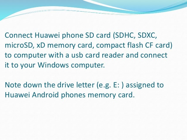 How to recover deleted files from Huawei Android phones