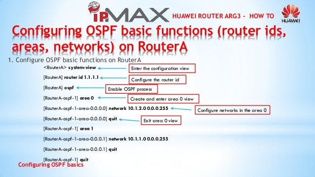 Huawei Router Interface Configuration