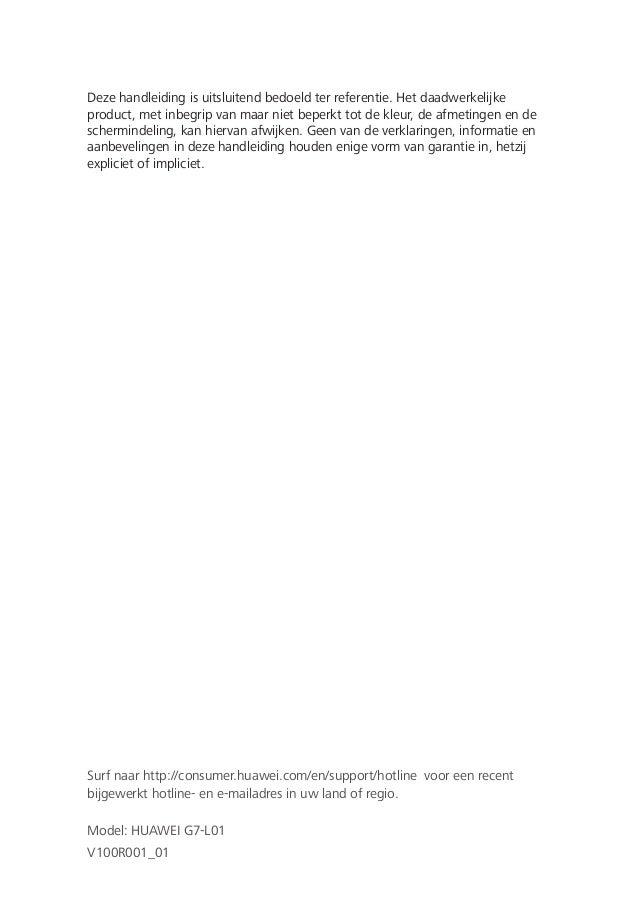Huawei ascend g7 gebruikershandleiding Nederlands, Dutch