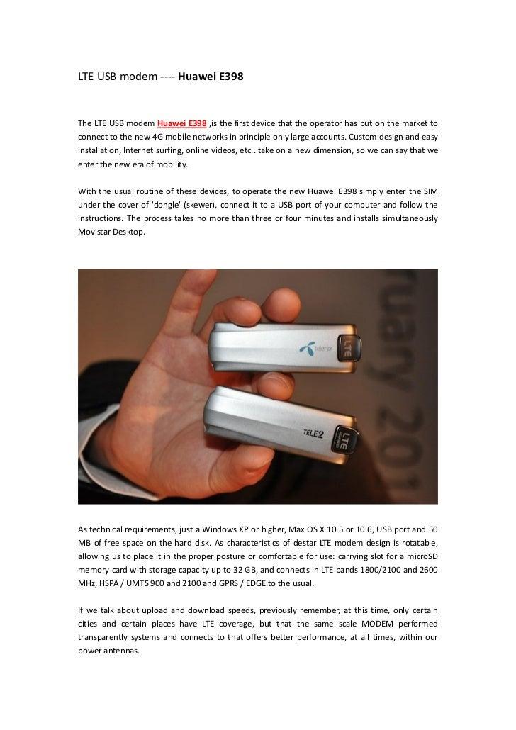 LTE USB Modem Huawei E398
