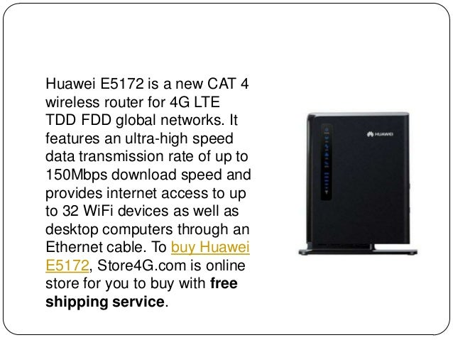 Unlocked Huawei E5172 LTE CPE Review Slide 2