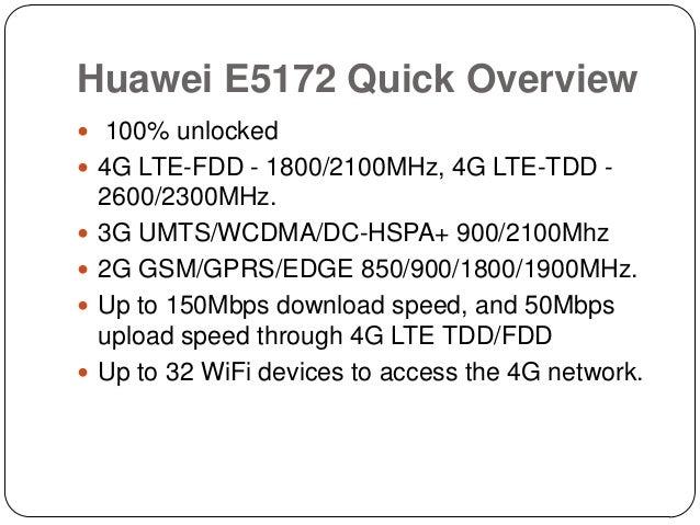 Unlocked Huawei E5172 LTE CPE Review Slide 3