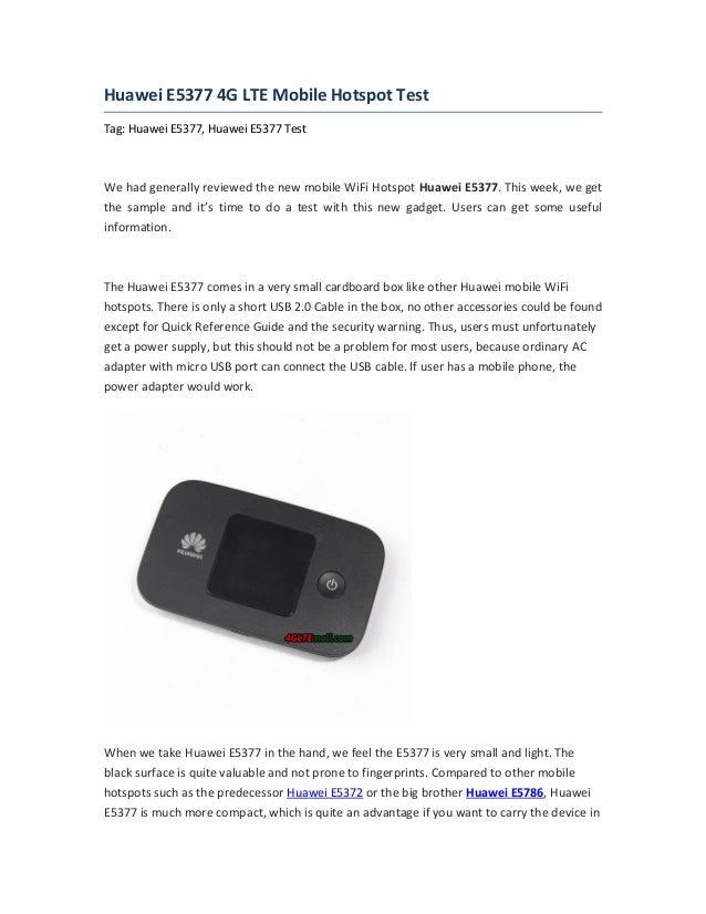 huawei e5377 4g lte mobile hotspot test. Black Bedroom Furniture Sets. Home Design Ideas