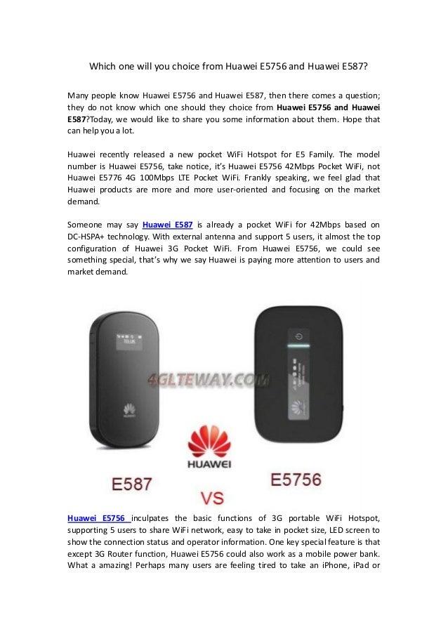 Huawei e5756 and huawei e587