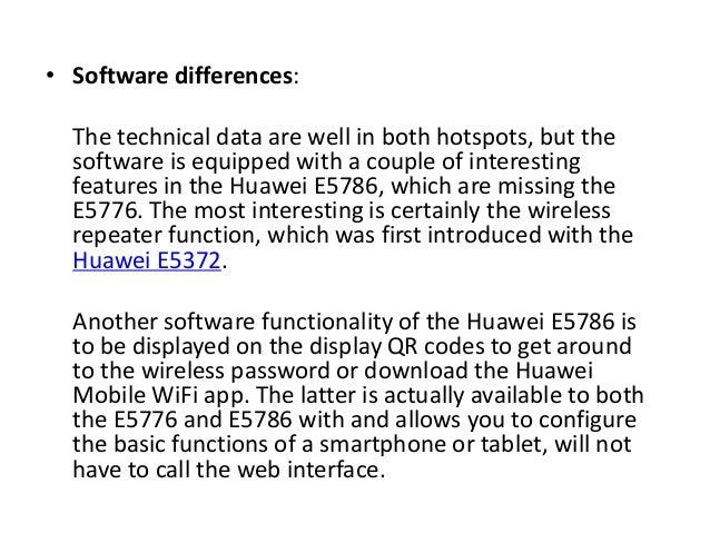 Huawei e5776 vs e5786 4G LTE Mobile Router