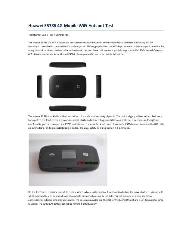 huawei e5786 4g mobile wifi hotspot test