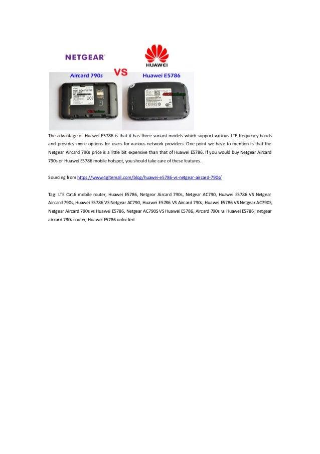 Huawei E5786 VS Netgear Aircard 790s