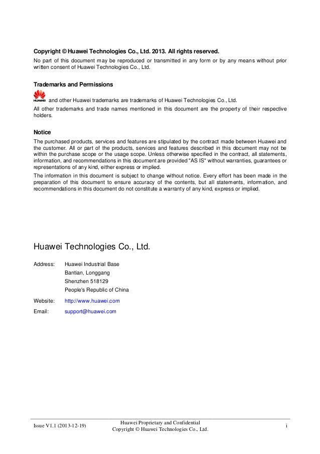 Huawei hss9860 v900 r008c20 production description