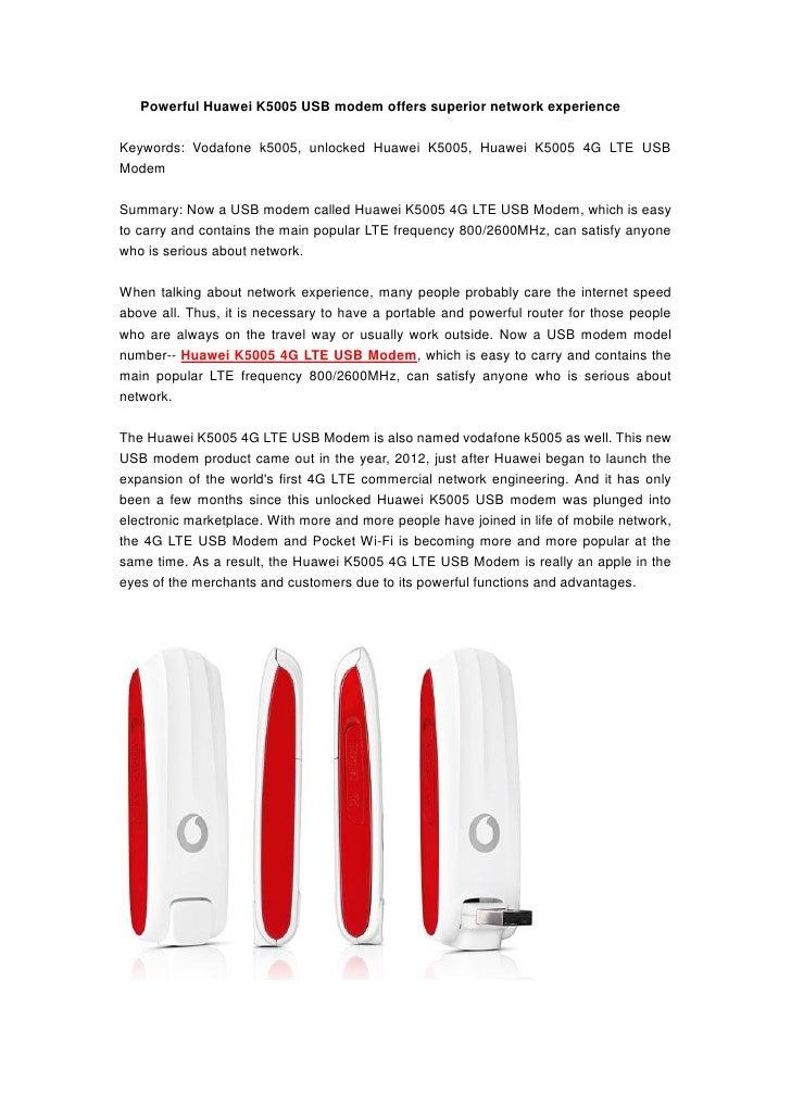 Powerful Huawei K5005 USB modem offers superior network experienceKeywords: Vodafone k5005, unlocked Huawei K5005, Huawei ...