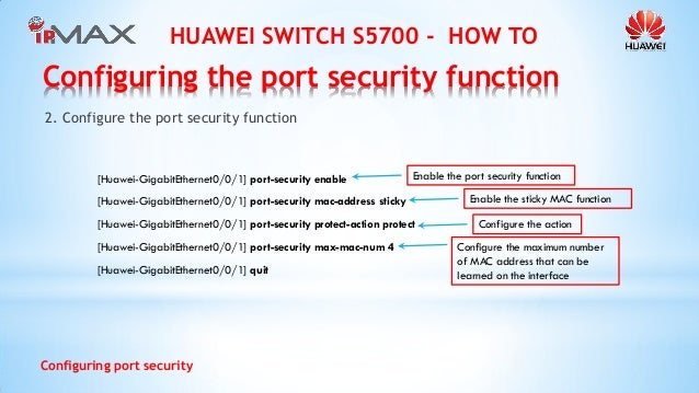Huawei Switch How To - Configuring port security