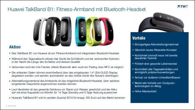 Huawei TalkBand B1: Fitness-Armband mit Bluetooth-Headset  Vorteile Aktion ! Das TalkBand B1 von Huawei ist ein Fitness-Ar...