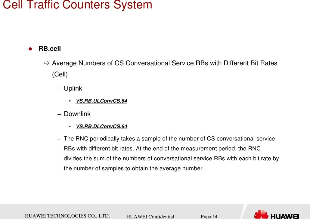 Cell Traffic Counters System        RB.cell             Average Numbers of CS Conversational Service RBs with Different Bi...
