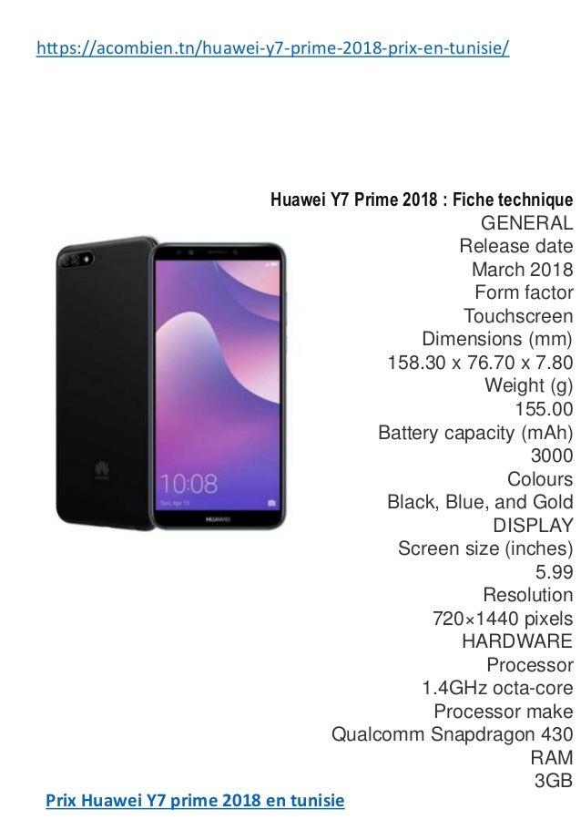 Huawei Y7 Prime 2018 En Tunisie