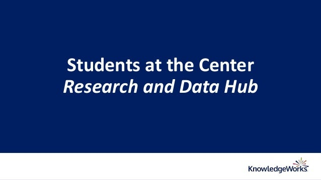 Students at the Center Research and Data Hub