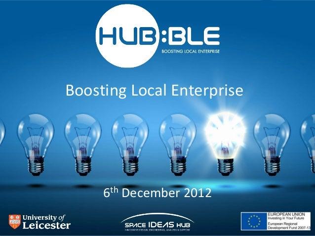 Boosting Local Enterprise     6th December 2012