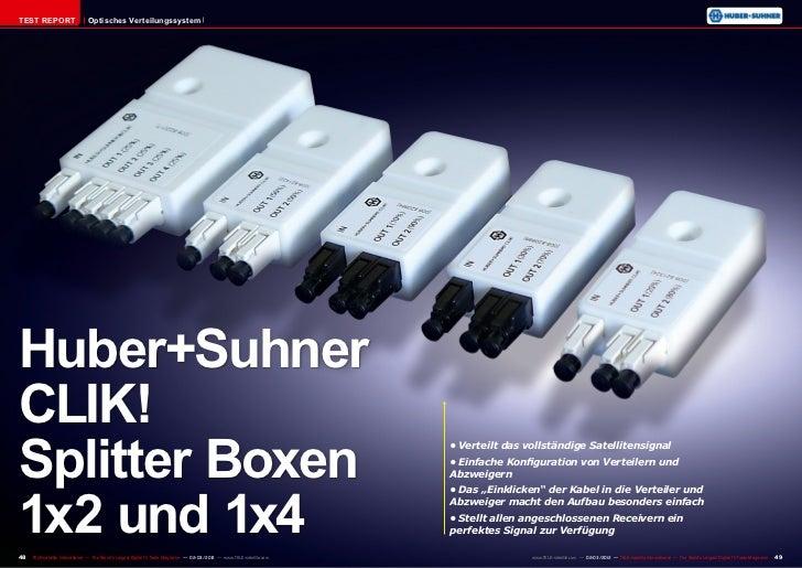 TEST REPORT                    Optisches VerteilungssystemHuber+SuhnerCLIK!Splitter Boxen                                 ...