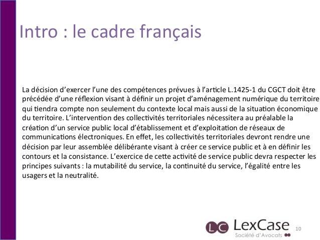 Intro  :  le  cadre  français   10   La  décision  d'exercer  l'une  des  compétences  prévues  ...