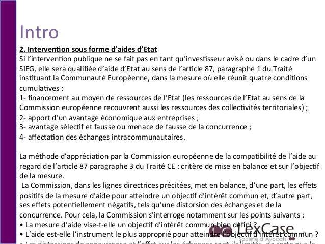 Intro   6   2.  Interven*on  sous  forme  d'aides  d'Etat   Si  l'interven6on  publique  ne  se  ...