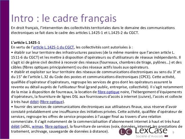 Intro  :  le  cadre  français   9   En  droit  français,  l'interven6on  des  collec6vités  territ...