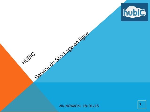 HUBIC Service de Stockage en ligne Alix NOWACKI- 18/01/15 1