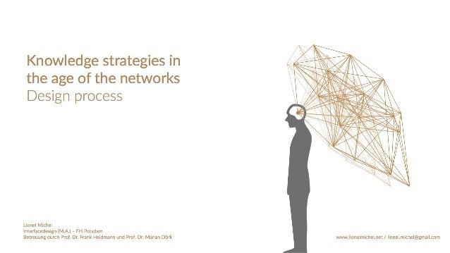 Design Process - Knowledge strategies in the age of the networks