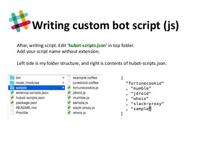How to build a slack-hubot with js
