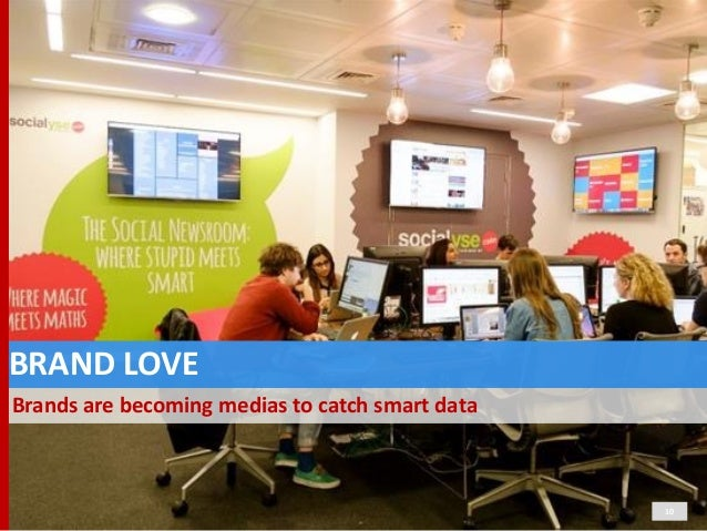 BRAND  LOVE Brands  are  becoming  medias  to  catch  smart  data 10