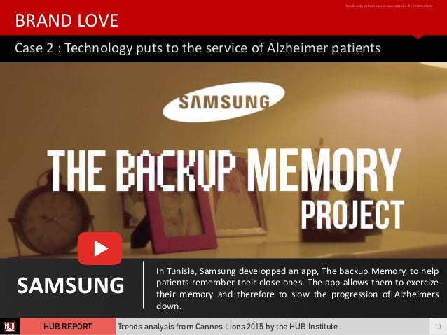 Case  2  :  Technology  puts  to  the  service  of  Alzheimer  patients   BRAND  LOVE   Trends ...