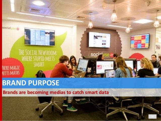 BRAND  PURPOSE Brands  are  becoming  medias  to  catch  smart  data 14