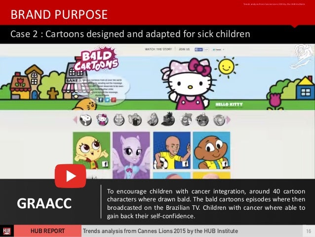 Case  2  :  Cartoons  designed  and  adapted  for  sick  children BRAND  PURPOSE Trends  analysis  ...