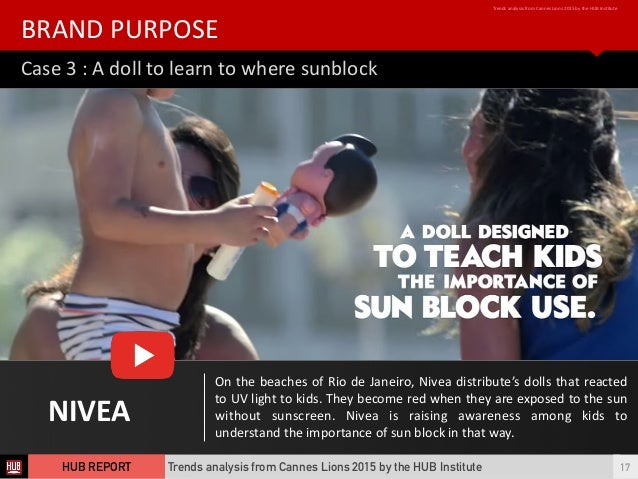 Case  3  :  A  doll  to  learn  to  where  sunblock BRAND  PURPOSE Trends  analysis  from  Canne...