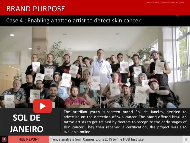 Case  4  :  Enabling  a  tattoo  artist  to  detect  skin  cancer BRAND  PURPOSE Trends  analysis...