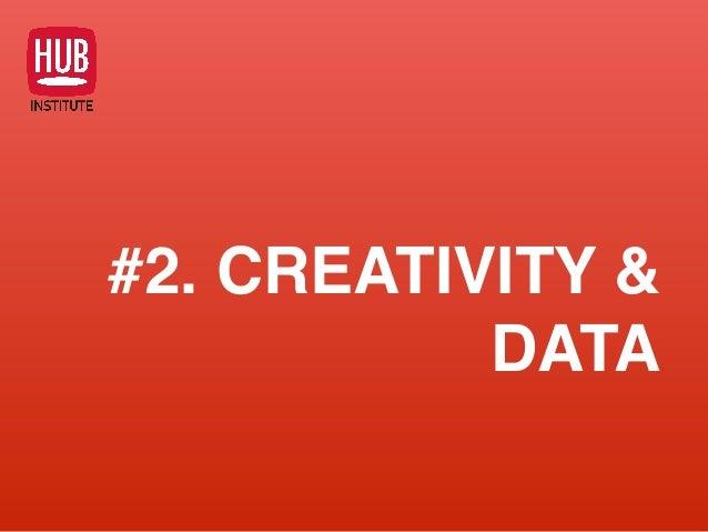 #2. CREATIVITY & DATA