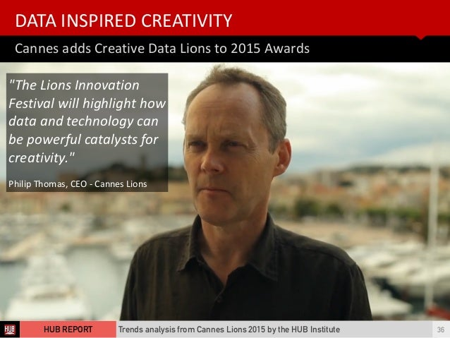 Cannes  adds  Creative  Data  Lions  to  2015  Awards DATA  INSPIRED  CREATIVITY Trends analysis from Ca...