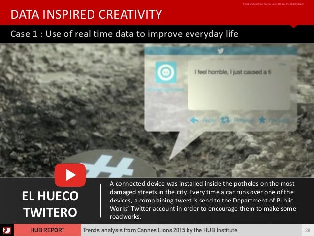 Case  1  :  Use  of  real  time  data  to  improve  everyday  life DATA  INSPIRED  CREATIVITY Tr...
