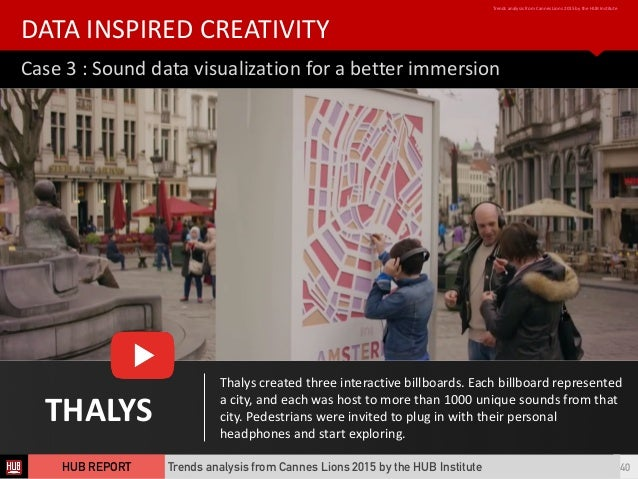 Case  3  :  Sound  data  visualization  for  a  better  immersion DATA  INSPIRED  CREATIVITY Trends...