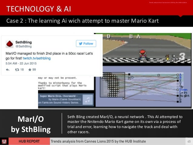 MarI/O by  SthBling Case  2  :  The  learning  Ai  wich  attempt  to  master  Mario  Kart TECHNOL...