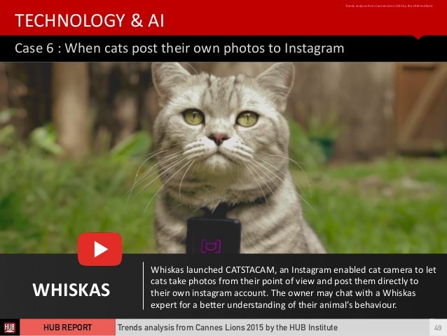 WHISKAS Whiskas  launched  CATSTACAM,  an  Instagram  enabled  cat  camera  to  let   cats  take  ...