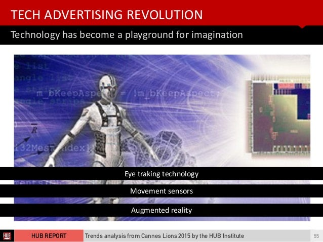 Technology  has  become  a  playground  for  imagination TECH  ADVERTISING  REVOLUTION Trends analysis fro...