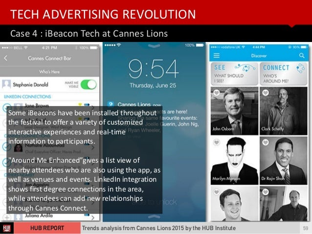Case  4  :  iBeacon  Tech  at  Cannes  Lions TECH  ADVERTISING  REVOLUTION Trends analysis from Cannes L...