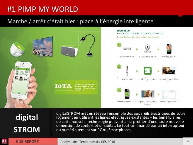 Analyse des Tendances du CES 2016HUB REPORT Marche / arrêt c'était hier : place à l'énergie intelligente #1 PIMP MY WORLD ...