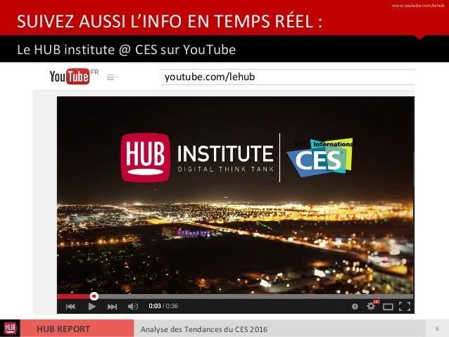 Analyse des Tendances du CES 2016HUB REPORT Analyse des Tendances du CES 2016HUB REPORT Le HUB institute @ CES sur YouTube...