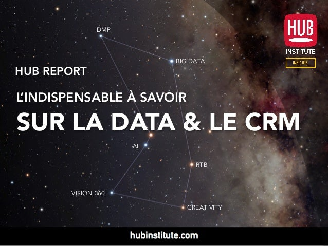 HUB REPORT L'INDISPENSABLE À SAVOIR SUR LA DATA & LE CRM DMP RTB BIG DATA VISION 360 CREATIVITY AI