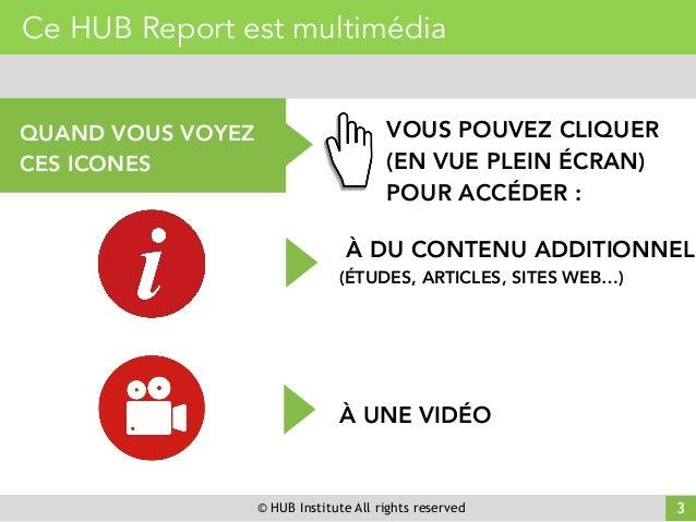 © HUB Institute All rights reserved Ce HUB Report est multimédia QUAND VOUS VOYEZ CES ICONES VOUS POUVEZ CLIQUER (EN VUE P...