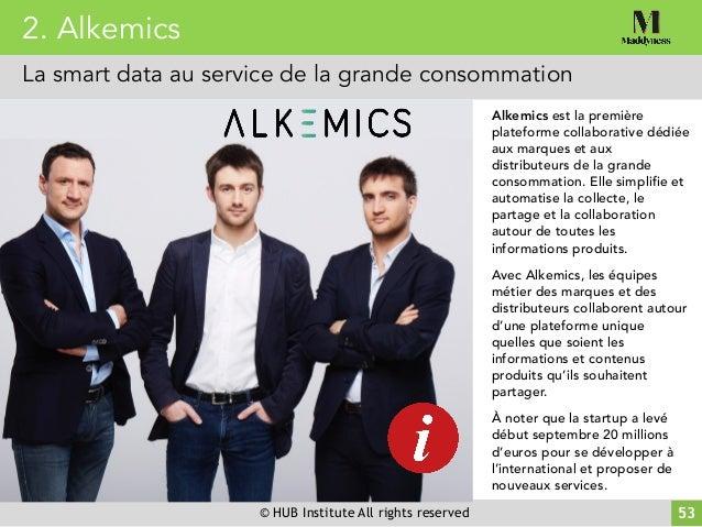 © HUB Institute All rights reserved 53 Alkemics est la première plateforme collaborative dédiée aux marques et aux distrib...