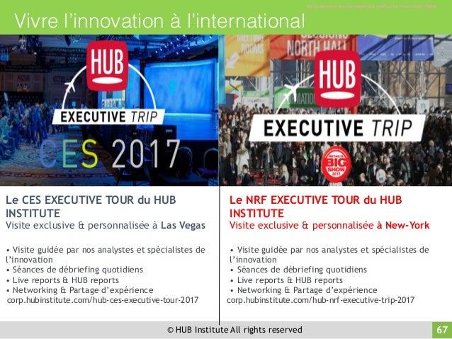 © HUB Institute All rights reserved 68 Retrouvez-nous sur les réseaux sociaux ! 67 WWW.HUBINSTITUTE.COM /HUBINSTITUTE @HUB...