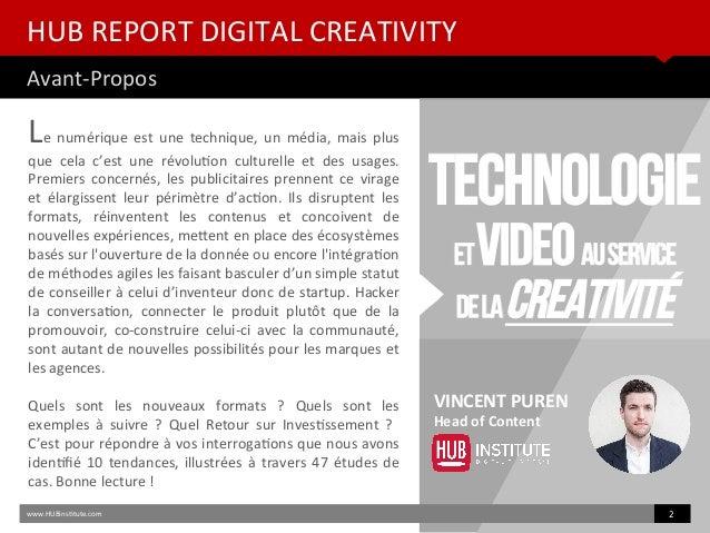 HUB REPORT Digital Creativity - 10 Tendances pour 2015 Slide 2